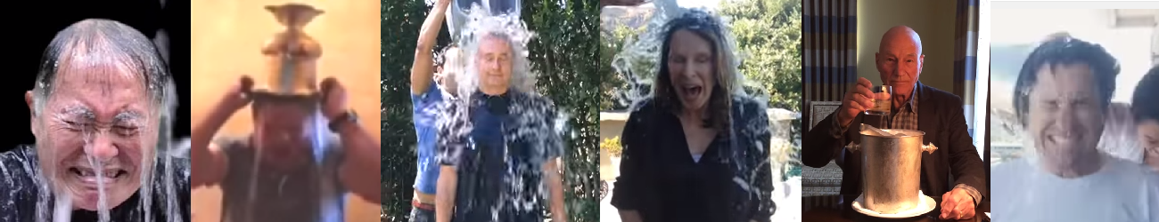 ST celebrity a ice bucket challenge